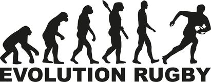 Evolution rugby. Vector sports icon Royalty Free Stock Photos