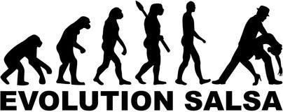 Evolution salsa dancing. Vector sports Stock Photos