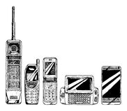 Evolution set of mobile phone Stock Photo