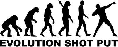 Evolution Shot put. Vector sports Stock Photo