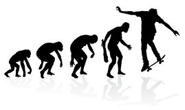 Evolution of a Skateboarder Stock Image