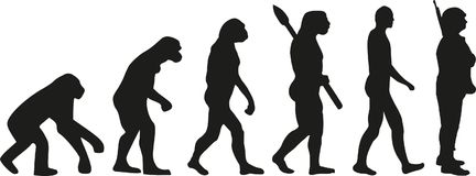 Evolution soldier vector Royalty Free Stock Image