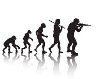 Evolution soldiers Royalty Free Stock Photos