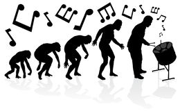 Evolution of the Steel Pan Player. Stock Image