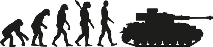 Evolution tank vector Stock Photos