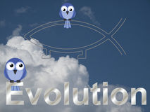 Evolution text Royalty Free Stock Image