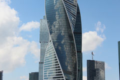Evolution Tower in the business center Moscow-City. The Evolution Tower in the business center Moscow-City Stock Photography