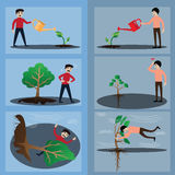Evolution of tree. Financial and wealth growth concept. Vector Stock Photos
