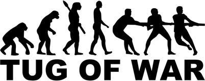 Evolution tug of war. Challenge vector Royalty Free Stock Photos