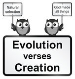 Evolution verses Creation vector illustration