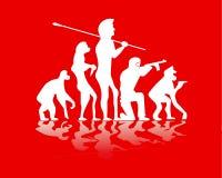Evolution war Stock Image