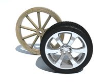 Evolution of wheel Royalty Free Stock Photography