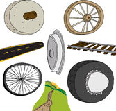 Evolution of The Wheel Royalty Free Stock Image