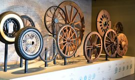 Evolution of wheels, history of wheels Stock Photos