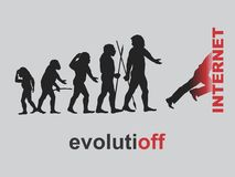 Evolution. The evolutionary impasse of mankind. Vector format Stock Photography