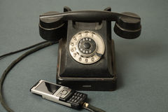 evolutiontelefoner arkivbilder