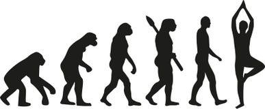 Evolutionyogavektor vektor illustrationer