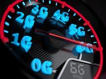 Evoluzione del tachimetro 6G Illustrazione di Stock