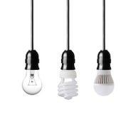 Evoluzione delle lampadine Fotografia Stock