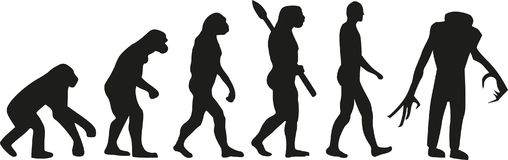 Evoluzione dello zombie morta illustrazione vettoriale