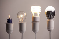 Evoluzione di illuminazione immagini stock libere da diritti