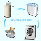 Evoluzione di lavaggio Immagini Stock