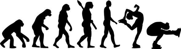 Evoluzione di pattinaggio artistico royalty illustrazione gratis