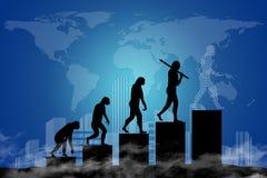 Evoluzione umana nel mondo moderno Fotografie Stock Libere da Diritti
