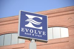 Evolve Bank and Trust, Jonesboro, Arkansas. Evolve Bank and Trust in Jonesboro, Arkansas, provides credit cards, mortgages, commercial banking, auto loans stock photos