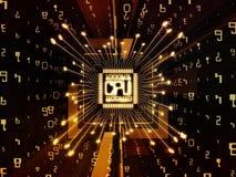 Evolving Computer CPU Stock Image