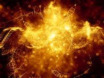 Evolving DNA vector illustration