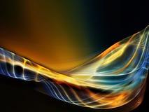 Evolving Fractal Waves Stock Photo