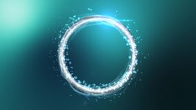 Particle ring evolution stock video footage
