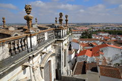 EVORA, ПОРТУГАЛИЯ: Взгляд города от крыши Se собора Стоковое фото RF