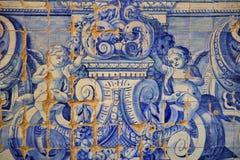 EVORA, ПОРТУГАЛИЯ - 11-ОЕ ОКТЯБРЯ 2016: Azulejos внутри церков Misericordia Стоковое Изображение
