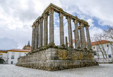 evora Португалия Римский висок Диана Стоковые Фотографии RF