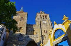 Evora cathedral Stock Photo