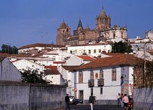Evora city buildings. Stock Photography