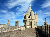 Evora gothic cathedral tower Stock Photo