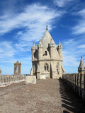 Evora gothic cathedral tower Stock Photography
