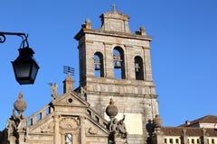 EVORA PORTUGAL: Kyrka av Nossa Senhora da Graca Arkivbilder