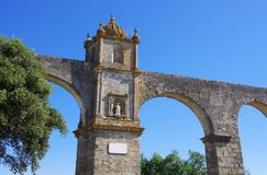 Evora Aqueduct Royalty Free Stock Photos