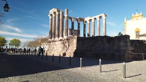 evora roman tempel stock video