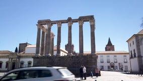 evora roman tempel arkivfilmer