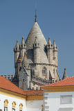 Evora's Gothic cathedral tower, Portugal UNESCO heritage Stock Images
