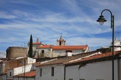 """Evora stads†""""en trevlig stad och ett populärt ställe för turister och lokalt folk portugal Royaltyfria Bilder"""