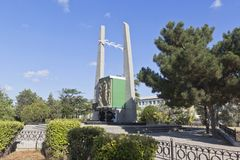 Monument to the Victims of Deportation in the city of Evpatoria, Crimea. Evpatoria, Crimea, Russia - July 3, 2018: Monument to the Victims of Deportation in the royalty free stock images