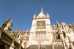 Evreux, Normandy. Gothic Notre Dame cathedral in Evreux, Normandy Royalty Free Stock Photography