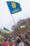 Evromaydan raduna gli attivisti in Ucraina Immagini Stock