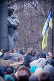 Evromaydan sammelt Aktivisten in Ukraine Stockfotos